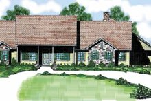 Country Exterior - Front Elevation Plan #52-240