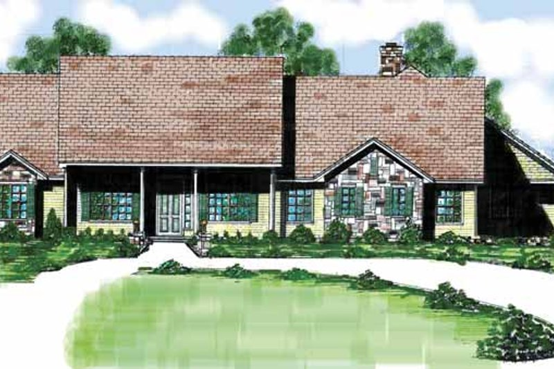 Dream House Plan - Country Exterior - Front Elevation Plan #52-240