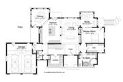 Log Style House Plan - 5 Beds 4.5 Baths 5140 Sq/Ft Plan #928-263 Floor Plan - Main Floor Plan