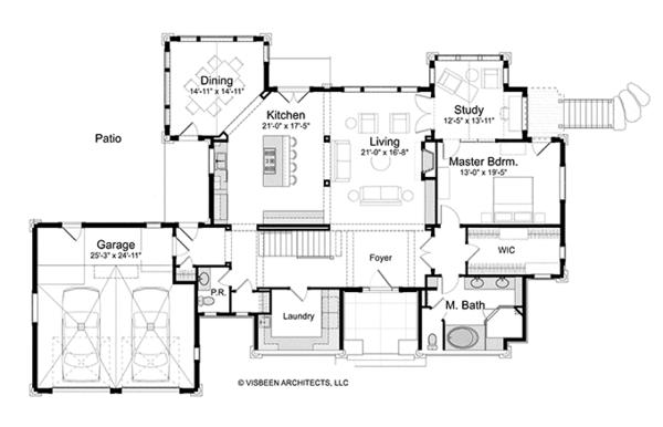 House Plan Design - Log Floor Plan - Main Floor Plan #928-263