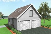 Traditional Style House Plan - 0 Beds 0 Baths 950 Sq/Ft Plan #75-195 Exterior - Front Elevation