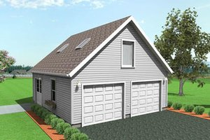 Traditional Exterior - Front Elevation Plan #75-195