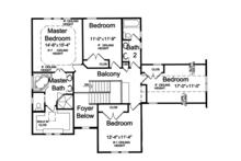 Craftsman Floor Plan - Upper Floor Plan Plan #46-835