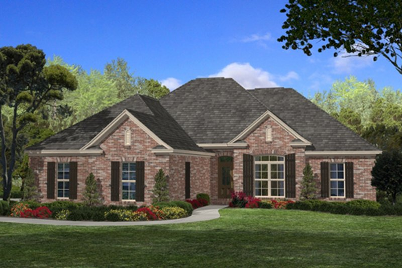 Traditional Exterior - Front Elevation Plan #430-54 - Houseplans.com