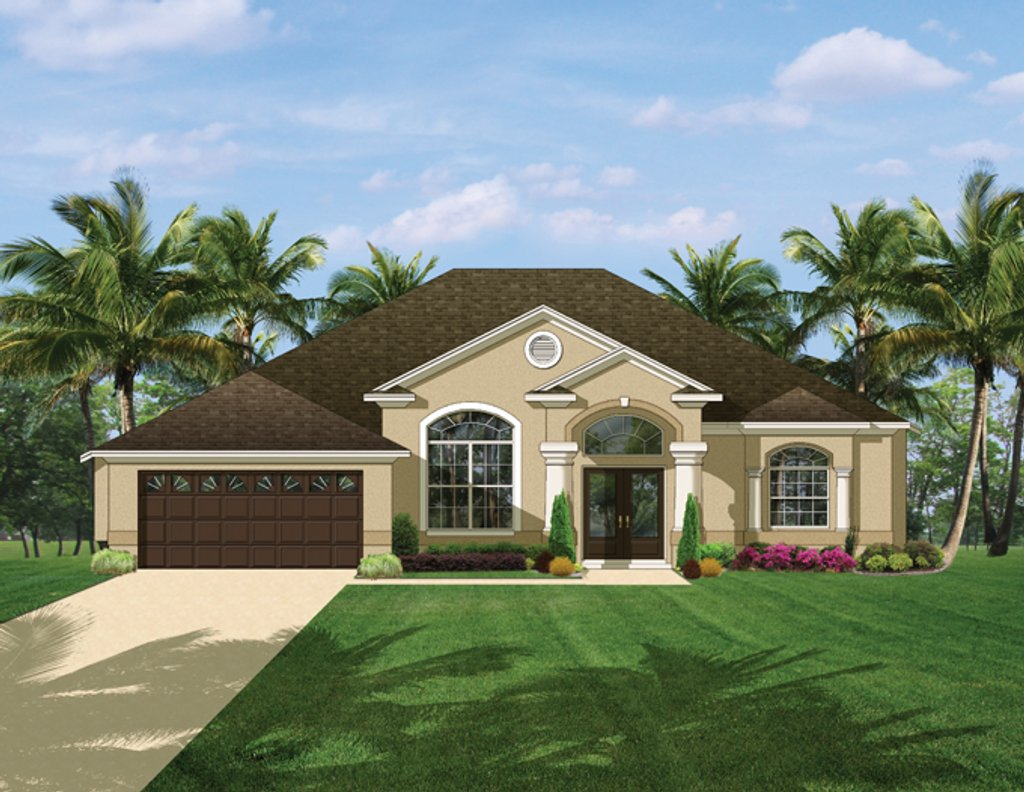 Mediterranean style house plan 3 beds 2 baths 2161 sq ft for Sater design homes for sale