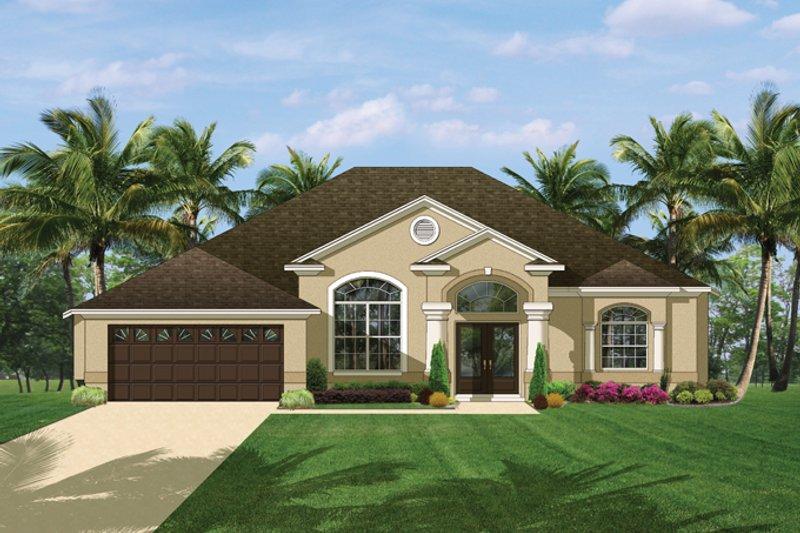 Architectural House Design - Mediterranean Exterior - Front Elevation Plan #1058-41