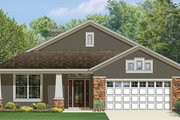 Craftsman Style House Plan - 3 Beds 2 Baths 1760 Sq/Ft Plan #1058-72 Exterior - Front Elevation