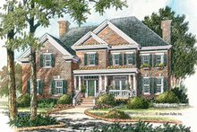 Home Plan - Colonial Exterior - Front Elevation Plan #429-380