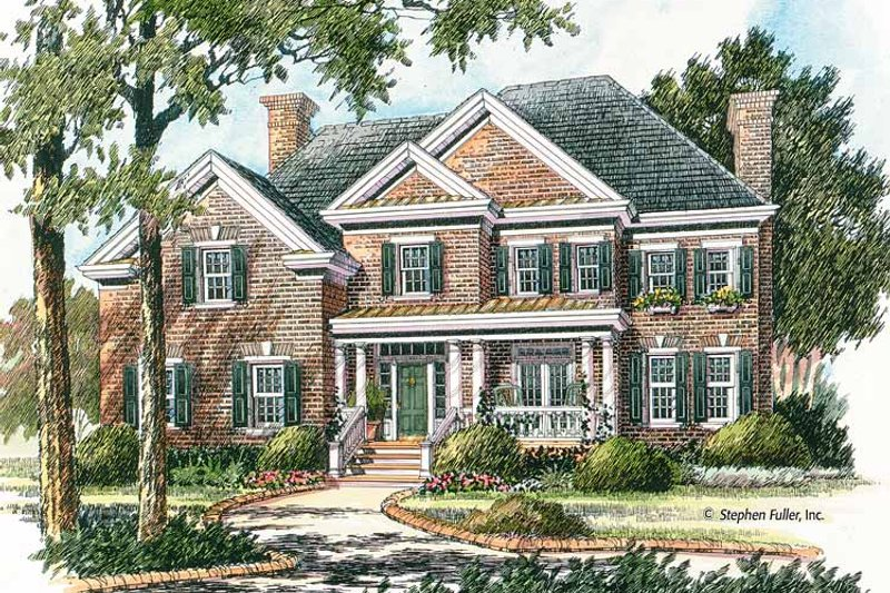 Colonial Exterior - Front Elevation Plan #429-380