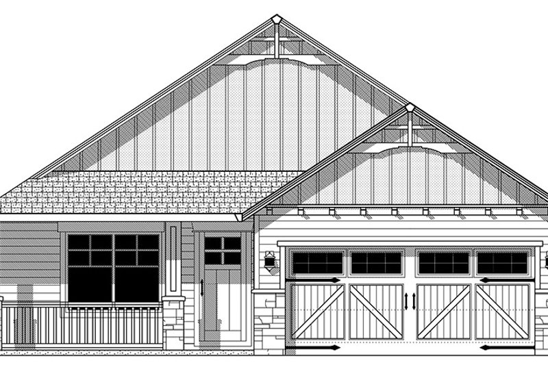 Front Elevation Pdf : Craftsman style house plan beds baths sq ft