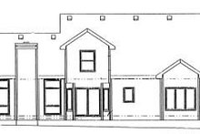 Home Plan - Colonial Exterior - Rear Elevation Plan #20-703