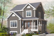 Country Exterior - Front Elevation Plan #23-2184