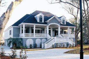Country Exterior - Front Elevation Plan #37-253