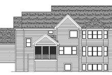 Craftsman Exterior - Rear Elevation Plan #51-369