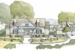 Country Exterior - Front Elevation Plan #429-381