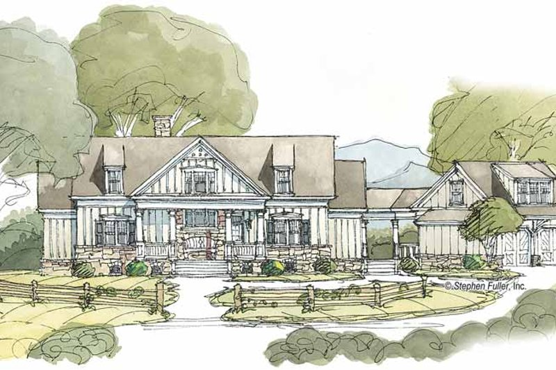 House Plan Design - Country Exterior - Front Elevation Plan #429-381