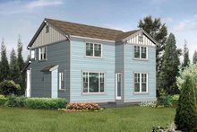 Craftsman Exterior - Rear Elevation Plan #132-292