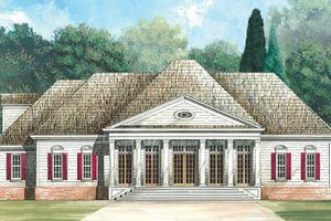 Classical Exterior - Front Elevation Plan #119-245