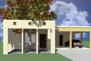 Home Plan - Modern Exterior - Front Elevation Plan #495-1