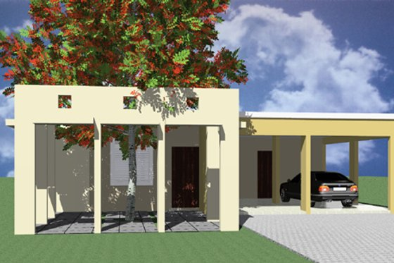 Modern Exterior - Front Elevation Plan #495-1
