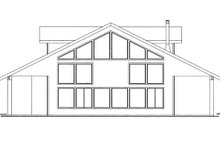 Dream House Plan - Contemporary Exterior - Other Elevation Plan #117-860