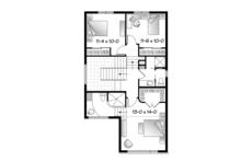 Contemporary Floor Plan - Upper Floor Plan Plan #23-2580