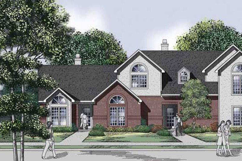 Traditional Exterior - Front Elevation Plan #45-426