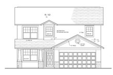 Prairie Exterior - Front Elevation Plan #1058-22