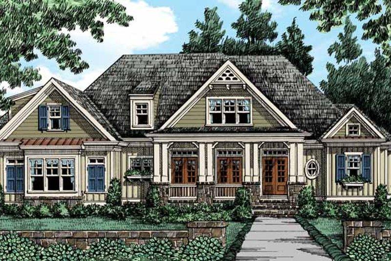 Craftsman Exterior - Front Elevation Plan #927-420