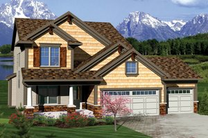Home Plan - Craftsman Exterior - Front Elevation Plan #70-1049