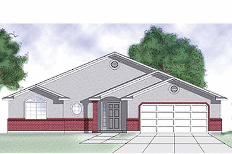 Traditional Exterior - Front Elevation Plan #945-3 - Houseplans.com