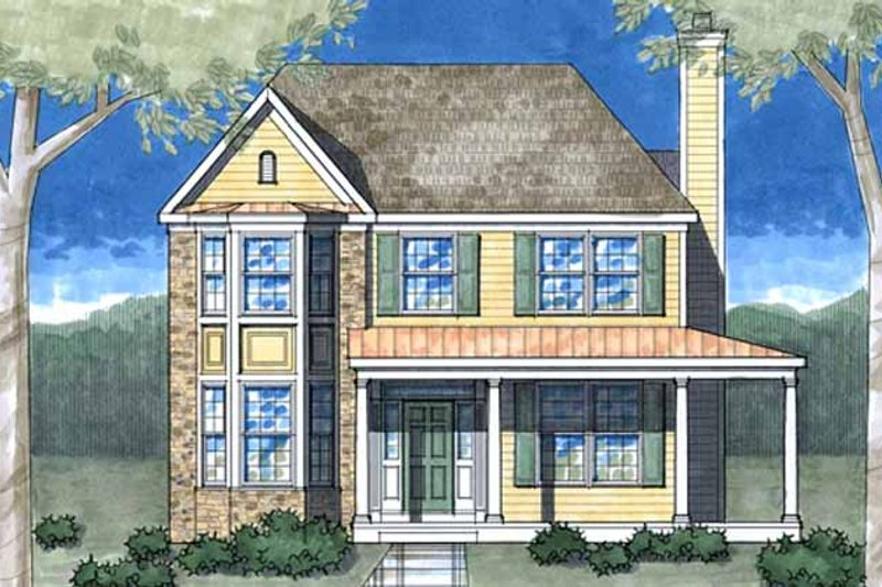 Country Exterior - Front Elevation Plan #1029-12