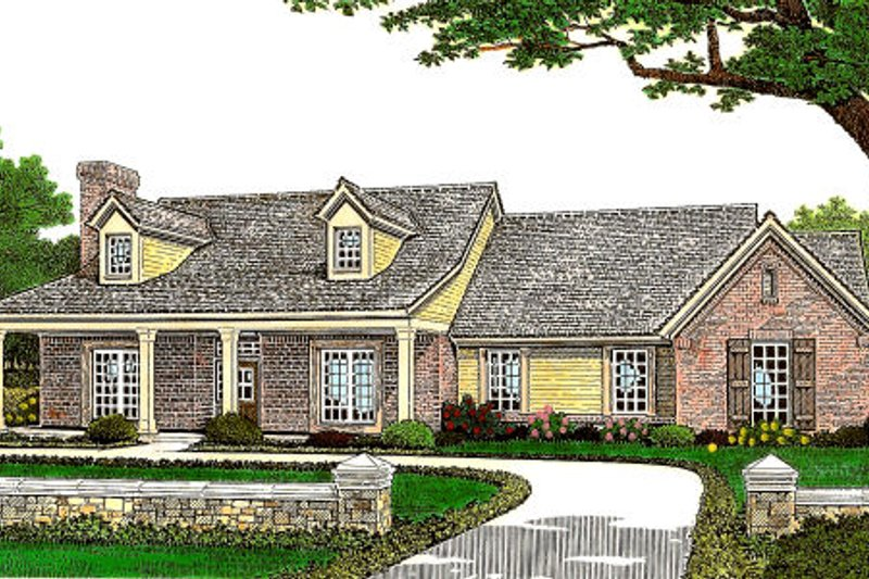 Farmhouse Style House Plan - 3 Beds 2 Baths 1777 Sq/Ft Plan #310-662 Exterior - Front Elevation