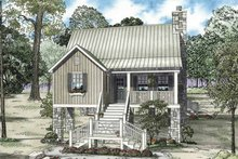 Mediterranean Exterior - Front Elevation Plan #17-3301