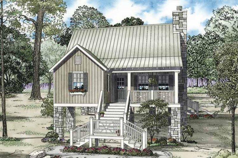 Dream House Plan - Mediterranean Exterior - Front Elevation Plan #17-3301