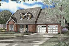 Country Exterior - Front Elevation Plan #17-3234