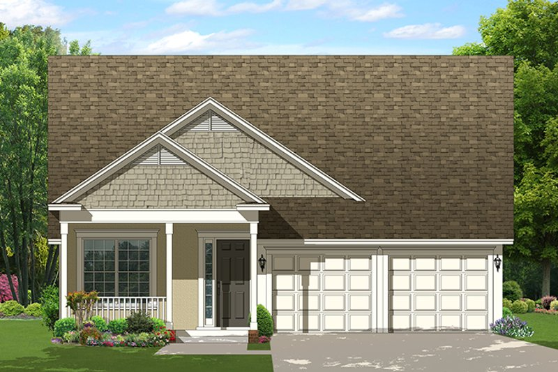 Country Exterior - Front Elevation Plan #1058-135 - Houseplans.com