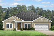 Colonial Style House Plan - 4 Beds 2 Baths 2238 Sq/Ft Plan #1058-122 Exterior - Front Elevation
