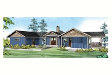 House Plan Design - Ranch Exterior - Front Elevation Plan #124-910