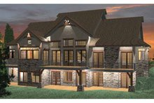 Architectural House Design - Prairie Exterior - Rear Elevation Plan #937-18