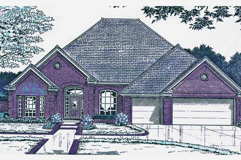 European Exterior - Front Elevation Plan #310-1212