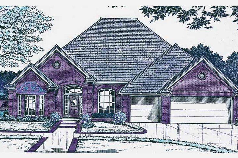 Dream House Plan - European Exterior - Front Elevation Plan #310-1212