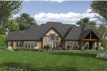 Dream House Plan - Craftsman Exterior - Rear Elevation Plan #48-649