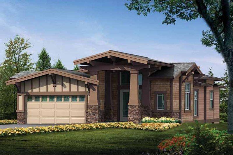 Craftsman Exterior - Front Elevation Plan #132-277 - Houseplans.com