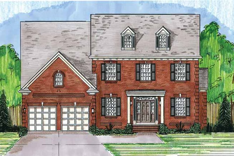 Classical Exterior - Front Elevation Plan #46-823