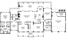 Colonial Floor Plan - Main Floor Plan Plan #1058-9