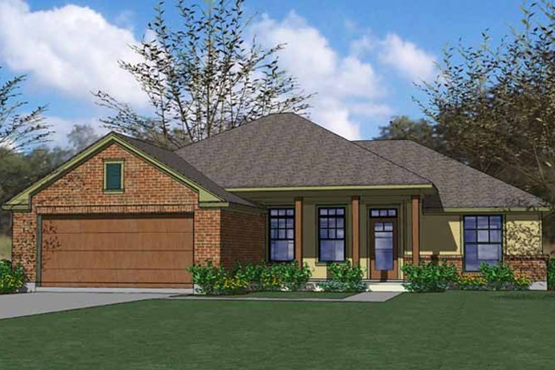 Traditional Exterior - Front Elevation Plan #120-205 - Houseplans.com