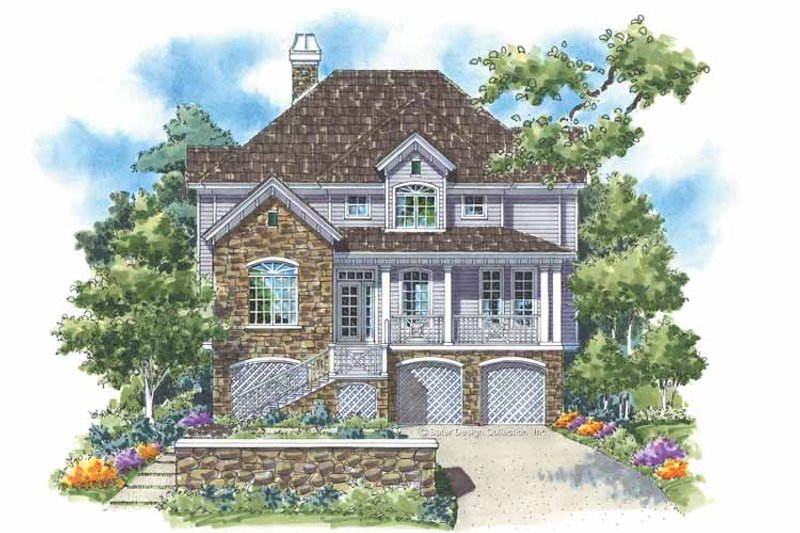 Architectural House Design - Country Exterior - Front Elevation Plan #930-124