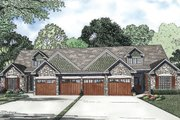 Country Style House Plan - 4 Beds 3 Baths 1875 Sq/Ft Plan #17-2402 Exterior - Front Elevation