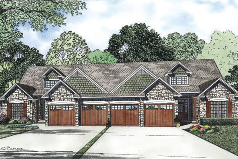 Dream House Plan - Country Exterior - Front Elevation Plan #17-2402